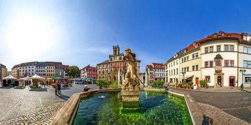 Rathaus am Marktplatz in Weimar, Deutschland