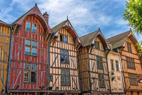 Fachwerkhäuser in Troyes, Frankreich