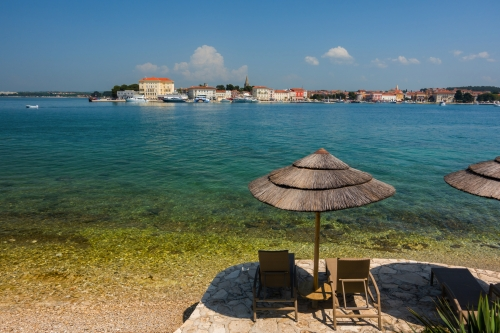 Blick auf Porec in Istrien, Kroatien