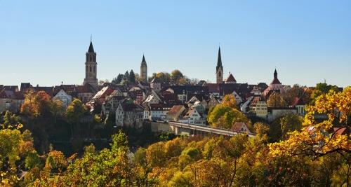 Blick auf die Altstadt von Rottweil, Deustchland
