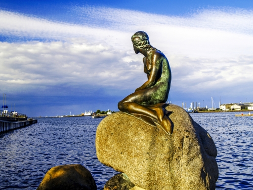 Kopenhagen,Die Kleine Meerjungfrau,Dänemark,Zealand