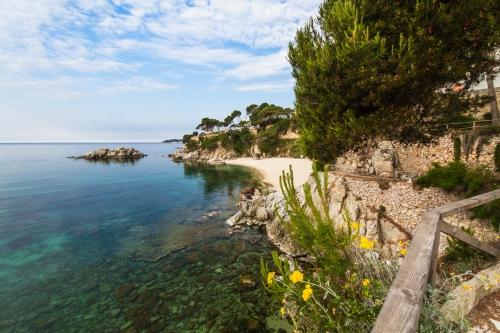 Strand bei Playa d´Aro an der Costa Brava in Spanien