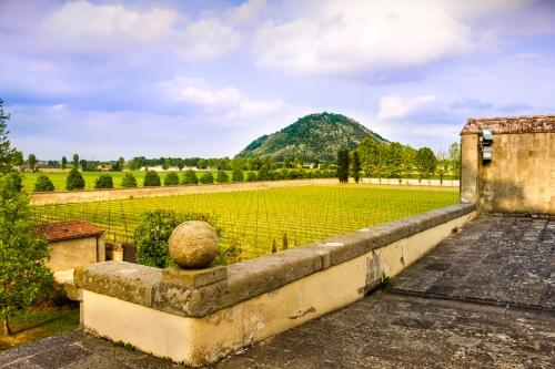 die Euganeischen Hügel nahe Abano Terme südwestlich von Padua, Italien