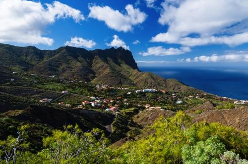 Tropische Berglandschaft von La Gomera Insel,Spanien