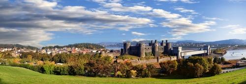 Conwy Castle in Wales,Großbritannien,Reihe von Walesh-Burgen