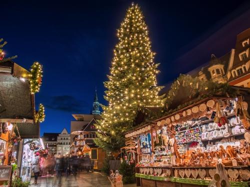 Weihnachtsmarkt in Zwickau, Deutschland