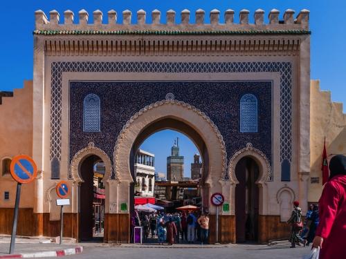 Blaues Tor (Bab Bou Jeloud) in Fès; Marokko