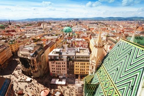 Stephansplatz und Stadtbild von Wien
