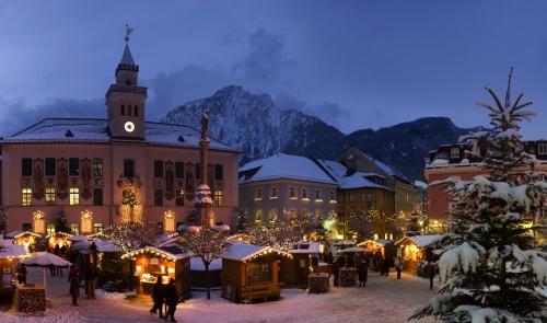 Weihnachtsmarkt in Bad Reichenhall, Deutschland