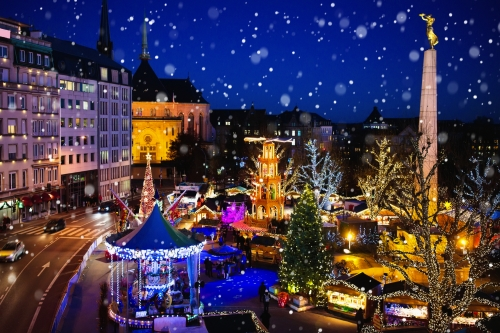 Weihnachtsmarkt in Luxemburg-Stadt, Luxemburg