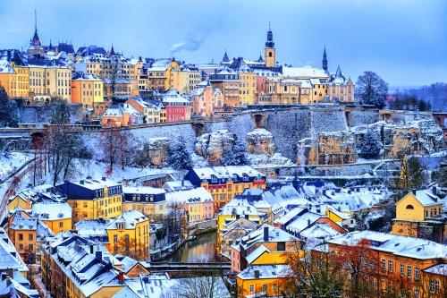 Luxemburg-Stadt im Winter, Luxemburg