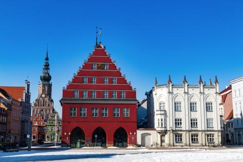 Greifswalder Markt im Winter