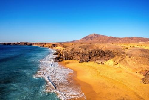 Playa del Papagayo auf Lanzarote, Spanien