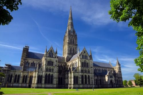 Kathedrale von Salisbury,In der Frühlingssaison,Salisbury,England