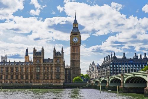 Palast von Westminster in London, Vereinigtes Königreich