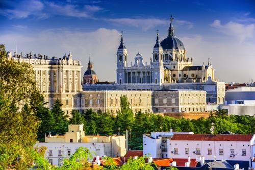 Königspalast und Kathedrale von Madrid,Spanien