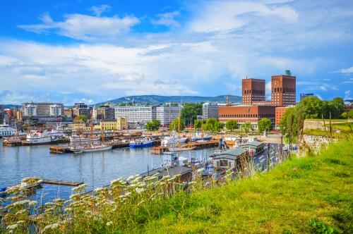 Oslo eine Stadt im Fjord