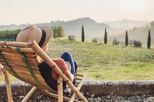 Blick in die Toskana, Italien