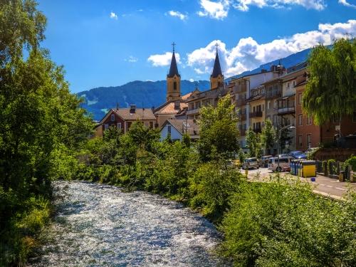 Bruneck im Südtiroler Pustertal, Italien