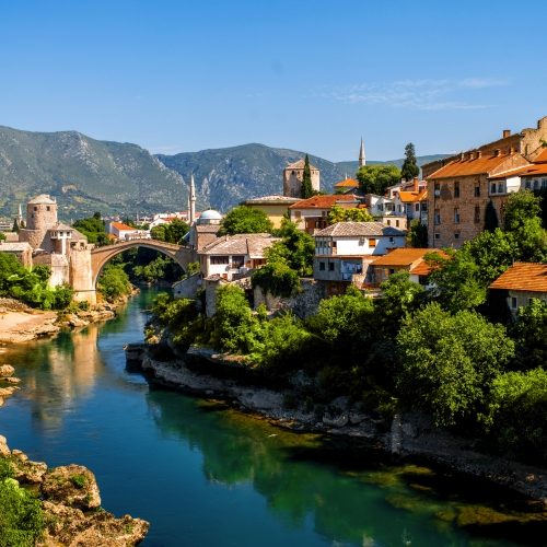 Blick auf die Stadt Mostar