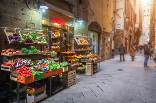 Marktstand in Florenz, Italien