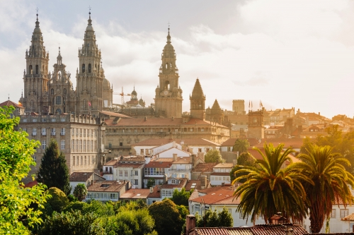 Santiago de Compostela: Kathedrale bei Sonnenaufgang