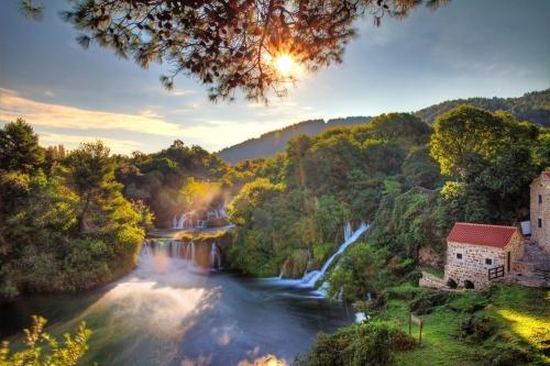 Wasserfälle im Nationalpark Krka in Kroatien