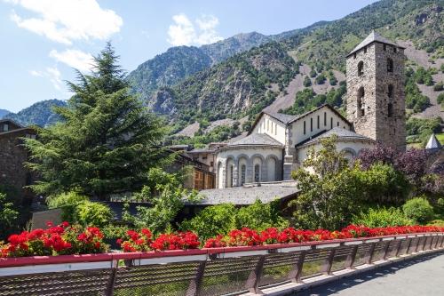 Schöne Aussicht auf Andorra La Vella