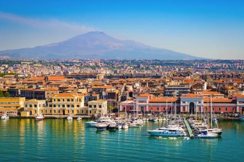 Catania auf Sizilien, Italien