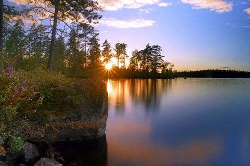 Sonnenuntergang in Småland