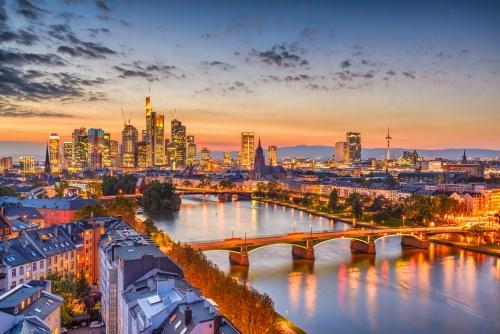 Skyline von Frankfurt, Deutschland
