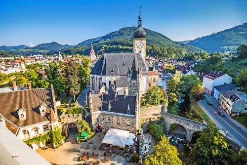 Die Altstadt von Waidhofen an der Ybbs in Österreich