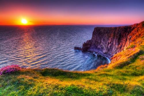 Cliffs of Moher bei Sonnenuntergang, Irland