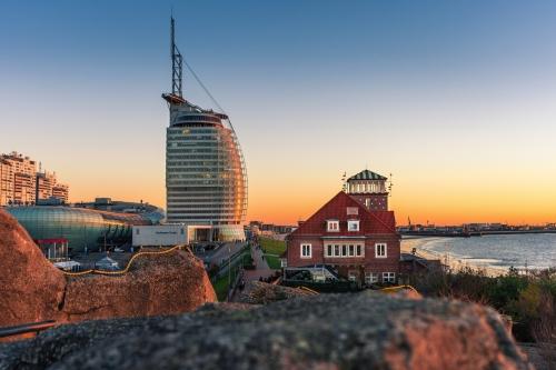 Sonnenuntergang in Bremerhaven, Deutschland