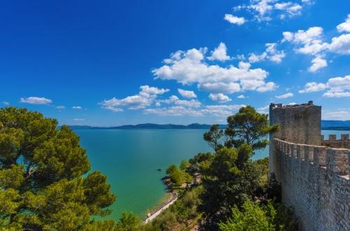 Castiglione del Lago in Umbrien, Italien