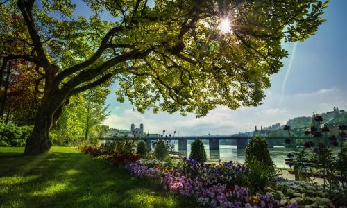 Dreiflüssestadt Passau bei Sonnenschein im Frühling, Deutschland