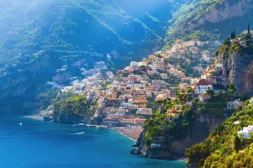 Positano an der Amalfiküste, Italien