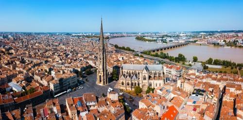 Luftbild von Bordeaux, Frankreich
