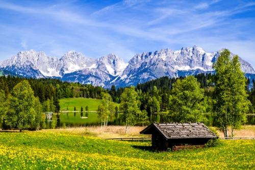 Kaisergebirge oder Wilder Kaiser in Österreich