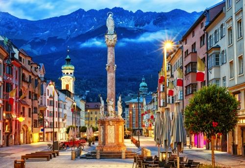 Altstadt von Innsbruck in Tirol, Österreich