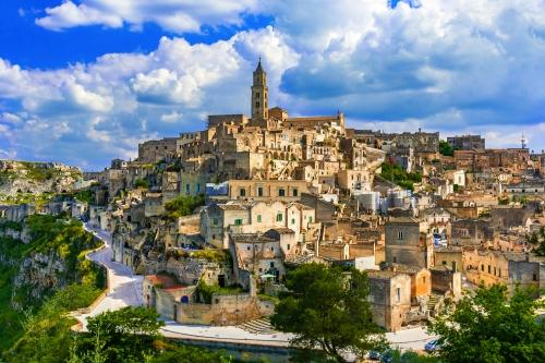 Matera in der Region Basilicata im Süden Italiens