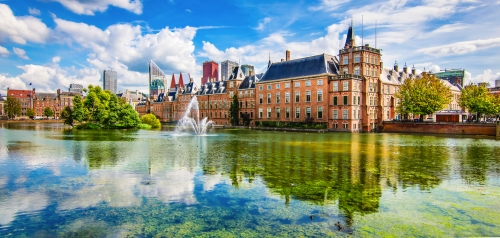 Panoramablick auf die Innenstadt von Den Haag, Niederlande