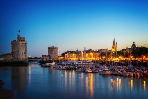 Alter Hafen von La Rochelle in Frankreich