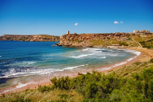 Golden Bay im Norden Maltas