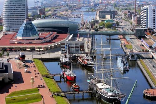 Hafen in Bremerhaven, Deutschland