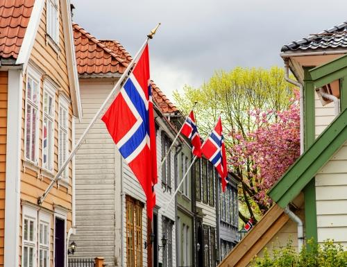 Wohngebiet in der Altstadt von Bergen,Norwegen