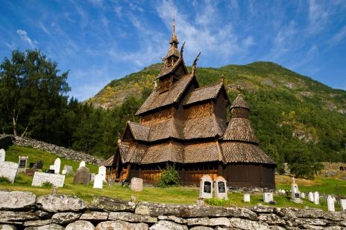 Stabkirche in Borgund, Norwegen