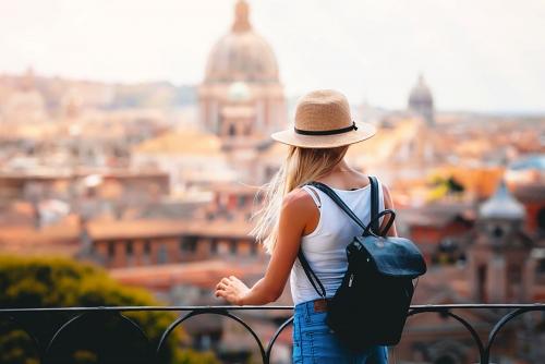 Blick auf den Vatikan in Rom, Italien
