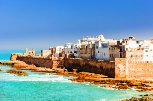 Ansicht über alte Stadt von Essaouira in Marokko