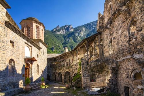 das Kloster von Agios Dionysios im Olymp, Griechenland